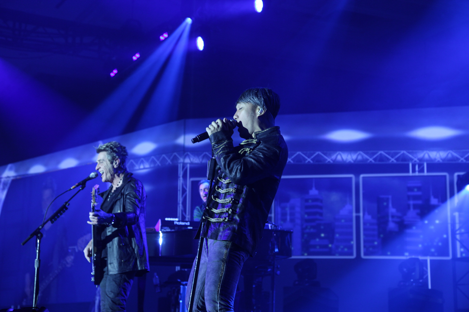 Journey performance onstage.