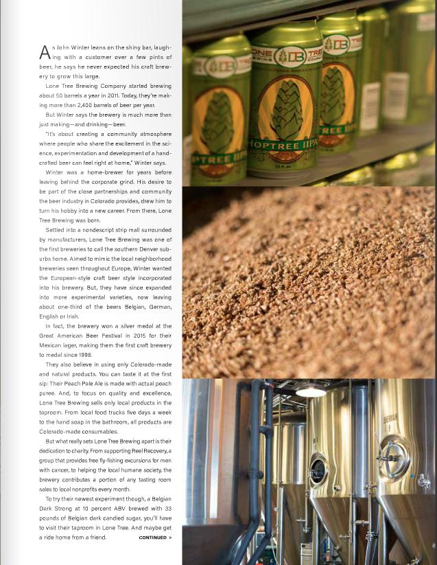 editorial photographer denver brewing company