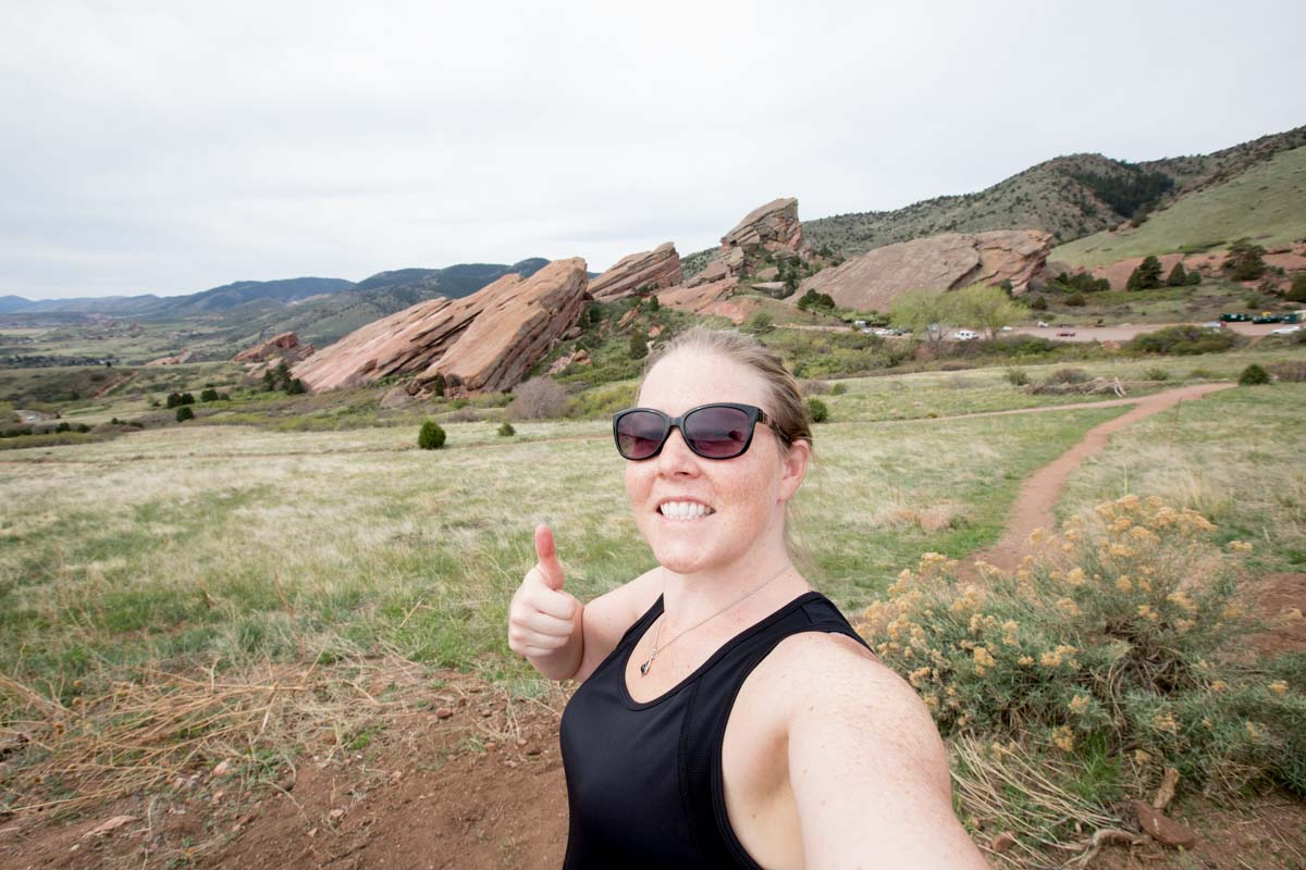 Selfie og photographer laura Kinser at red rocks